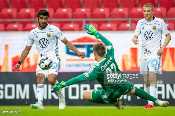 Rewan Amin of Ostersunds FK during the Allsvenskan match between Kalmar FF and Ostersunds FK at Guldfageln Arena on July 1, 2020 in Kalmar, Sweden.