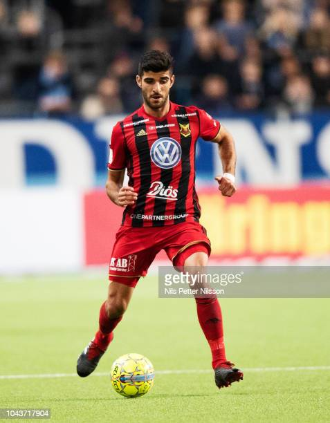 Rewan Amin of Ostersunds FK during the Allsvenskan match between Djurgardens IF and Ostersunds FK at Tele2 Arena on September 30 2018 in Stockholm...