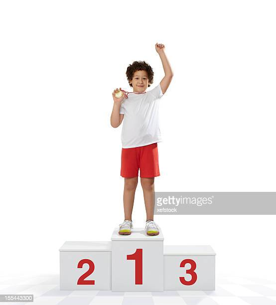 rewarding of the winner - winners podium stock pictures, royalty-free photos & images