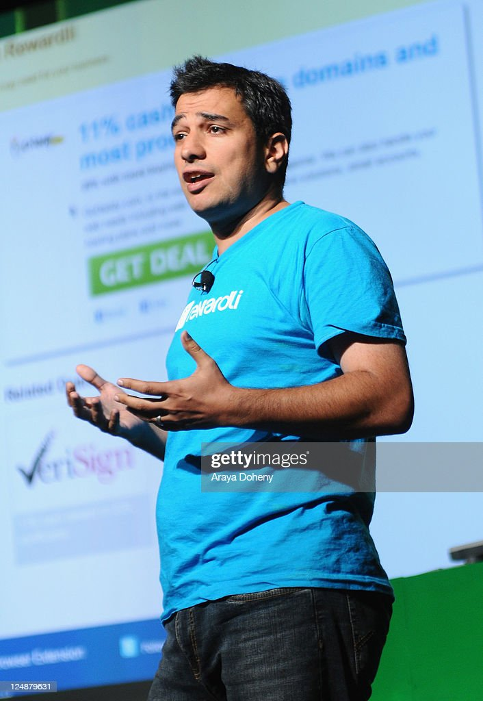 Rewardli CEO and Co-Founder George Favvas speaks onstage at Day 2 of TechCrunch Disrupt SF 2011 held at the San Francisco Design Center Concourse on September 13, 2011 in San Francisco, California.