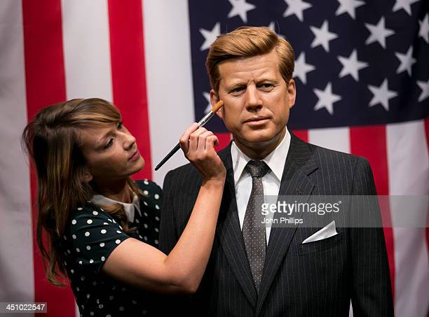 A reworked waxwork of President John F Kennedy is unveiled at Madame Tussauds to mark the 50th anniversary of his assassination on November 21 2013...