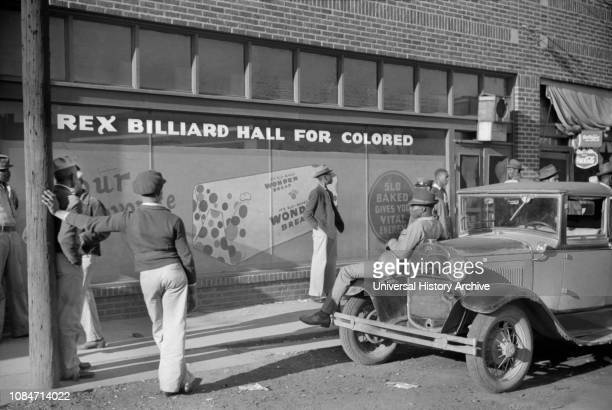 Rex Billiard Hall for Colored, Beale Street, Memphis, Tennessee, USA, Marion Post Wolcott, Farm Security Administration, October 1939.
