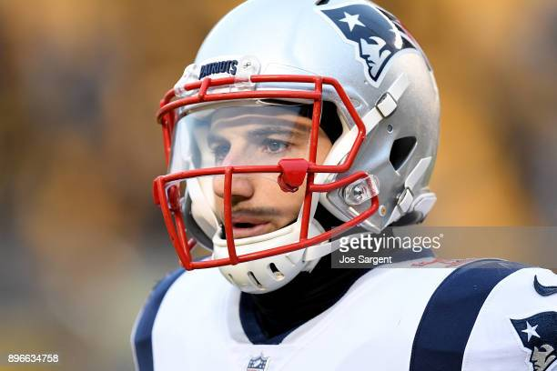 Rex Burkhead of the New England Patriots warms up prior to the game against the Pittsburgh Steelers at Heinz Field on December 17 2017 in Pittsburgh...