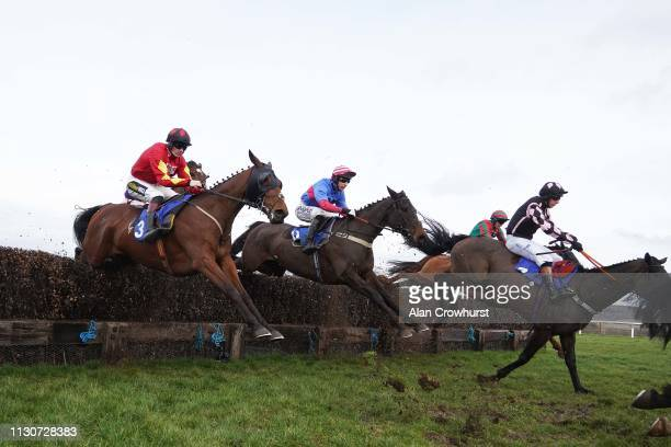 Rex Dingle riding Orchardstown Cross on their way to winning The Royal Bath West Of England Society Chase at Taunton Racecourse on February 19 2019...