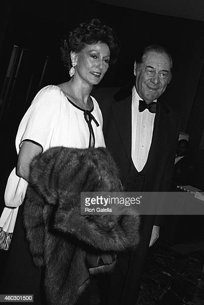 Rex Harrison and wife Mercia Tinker attend Kennedy Center Honors Reception on December 5 1981 at the State Department in Washington DC