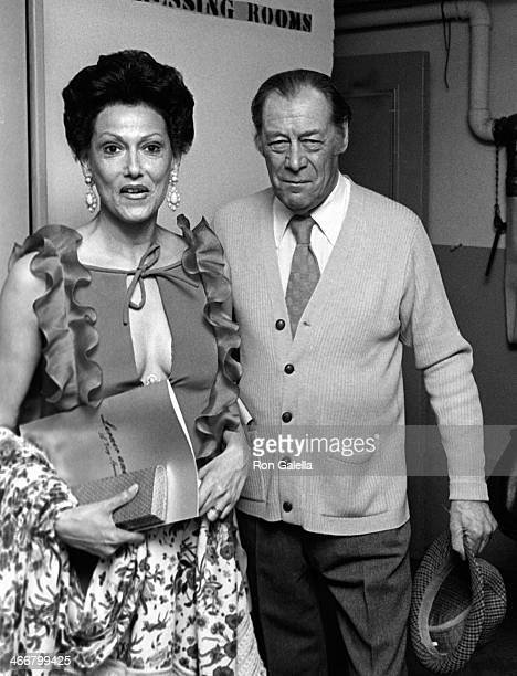 Rex Harrison and wife Mercia Tinker attend Lerner and Loew Tribute Party on May 14 1979 at Xenon Disco in New York City