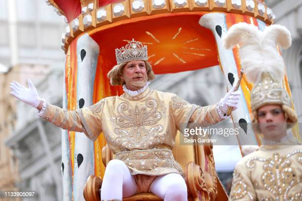 Rex King of Carnival waves to his subjects Mardi Gras Day on March 05, 2019 in New Orleans, Louisiana.
