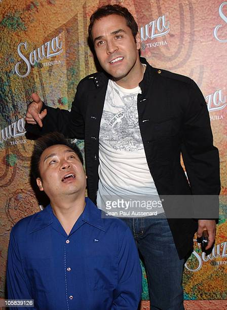 Rex Lee and Jeremy Piven during Sauza Tequila's Cinco de Mayo Party Hosted by Jeremy Piven Arrivals at Velvet Margarita Cantina in Hollywood...