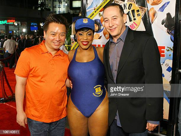 Rex Lee Niecy Nash and Paul Reubens during 'Reno 911 Miami' Los Angeles Premiere Red Carpet at Grauman's Chinese Theater in Hollywood California...