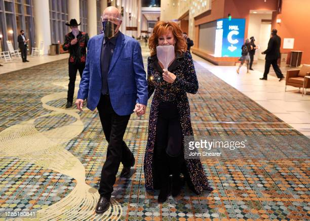 Rex Linn and Reba McEntire attend the 54th Annual CMA Awards at Music City Center on November 11, 2020 in Nashville, Tennessee.