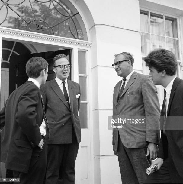 Rex Makin solicitor and member of the Beatles legal team speaks at the home of Brian Epstein 24 Chapel Street Belgravia London SW1 a couple of days...