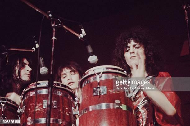 Rex Marc Bolan, Mickey Finn and Bill Legend live at Nippon Budokan, Tokyo, November 28, 1972.