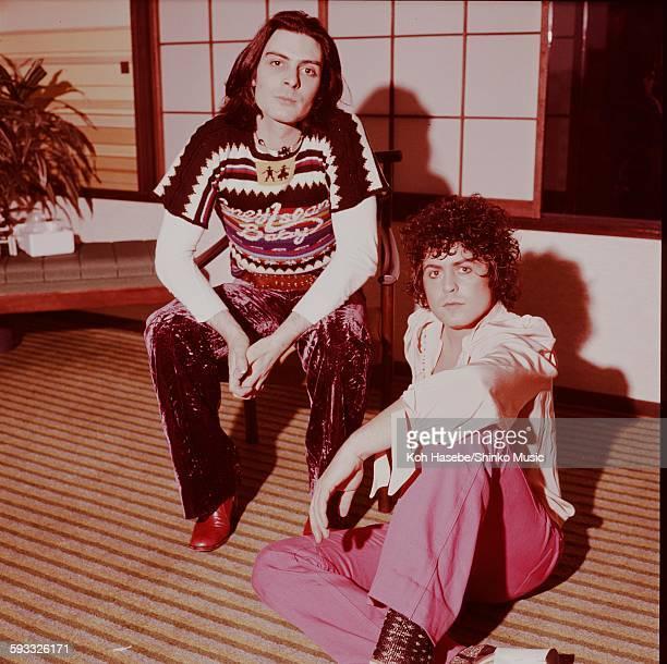 Rex Marc Bolan, Mickey Finn at the hotel, Tokyo, October 1973.
