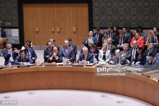 Rex Tillerson Secretary of State of the United States of America at Security Council's meeting on nonproliferation of weapons of mass destruction at...