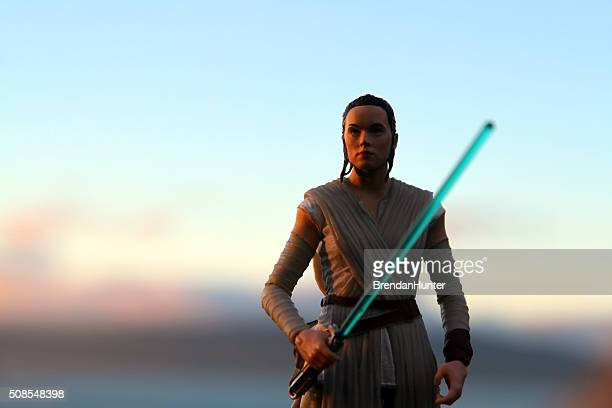 rey at the setting of the sun - star wars stock pictures, royalty-free photos & images