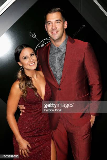 Rey Diate and Lewis Howes attend the Pencils of Promise 10th Anniversary Gala at Duggal Greenhouse on October 24 2018 in Brooklyn New York