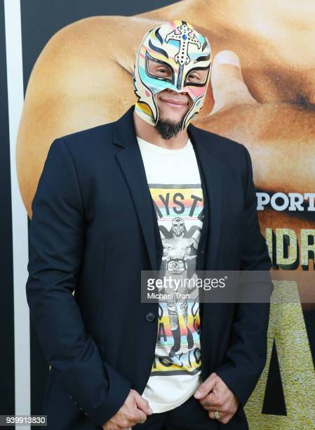 Rey Mysterio arrives to HBO World Premiere of 'Andre The Giant' held at ArcLight Cinerama Dome on March 29 2018 in Hollywood California