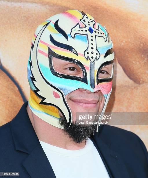 Rey Mysterio attends the HBO World Premiere of 'Andre The Giant' on March 29 2018 in Hollywood California