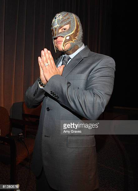 LOS ANGELES CA MAY 28 Rey Mysterio attends the WWE Emmy Screening of 'Tribute to the Troops' at the Director's Guild on May 28 2008 in Los Angeles...