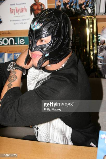 Rey Mysterio during WWE Wrestler Rey Mysterio Signs His Book 'Are We There Yet' at Eason Book Shop in Dublin at Eason Book Shop in Dublin Ireland