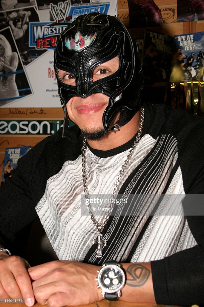 """WWE Wrestler Rey Mysterio Signs His Book """"Are We There Yet?"""" at Eason Book Shop"""