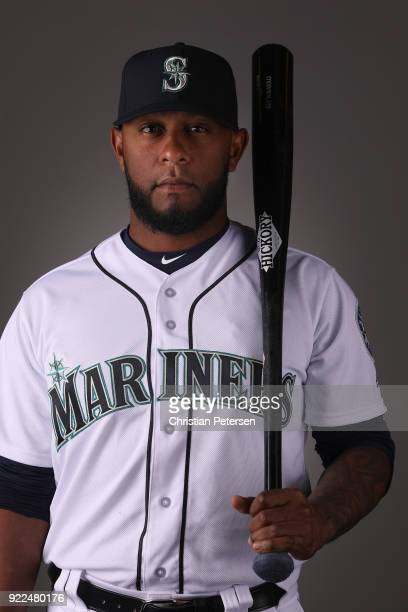 Rey Navarro of the Seattle Mariners poses for a portrait during photo day at Peoria Stadium on February 21 2018 in Peoria Arizona
