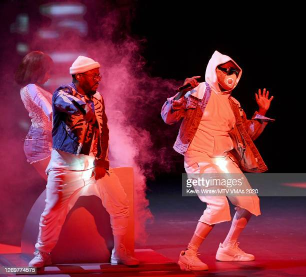 J Rey Soul apldeap and william of Black Eyed Peas perform at the 2020 MTV Video Music Awards broadcast on Sunday August 30 2020 in New York City