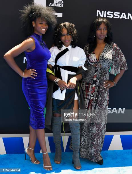 Reya Downs, Riele Downs, and Elle Downs attend the 2019 BET Awards on June 23, 2019 in Los Angeles, California.
