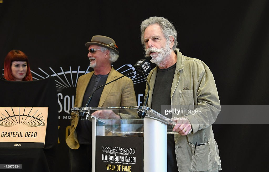 Reya Hart, Bill Kreutzmann and Bob Weir attend the Madison Square Garden 2015 Walk Of Fame Inductions at Madison Square Garden on May 11, 2015 in New York City.