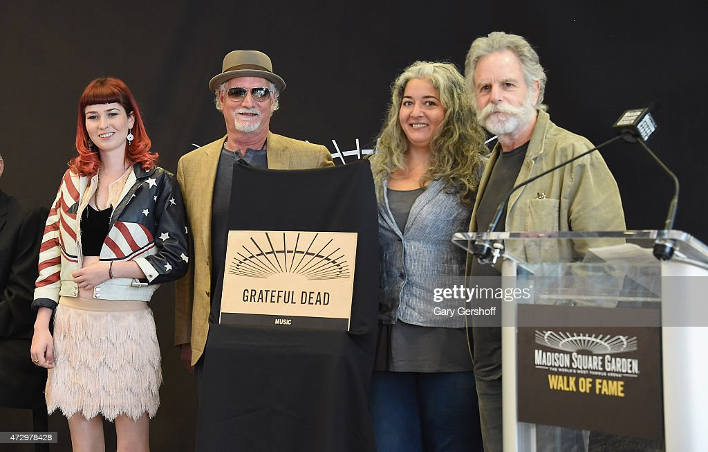 Reya Hart, Bill Kreutzmann,Trixie Garcia and Bob Weir attend the Madison Square Garden 2015 Walk Of Fame Inductions at Madison Square Garden on May 11, 2015 in New York City.
