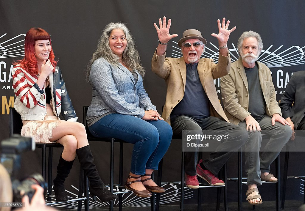 Reya Hart, Trixie Garcia, Bill Kreutzmann, and Bob Weir attend the Madison Square Garden 2015 Walk Of Fame Inductions at Madison Square Garden on May 11, 2015 in New York City.