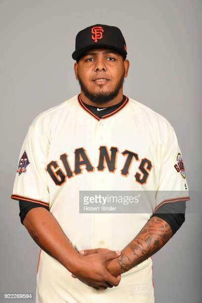 Reyes Moronta of the San Francisco Giants poses during Photo Day on Tuesday February 20 2018 at Scottsdale Stadium in Scottsdale Arizona