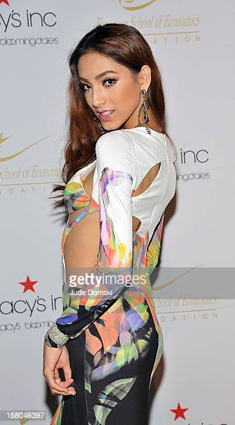 Reyila former Miss Universe China contestant attends the 2012 European School Of Economics Foundation Vision And Reality Awards at Cipriani 42nd...