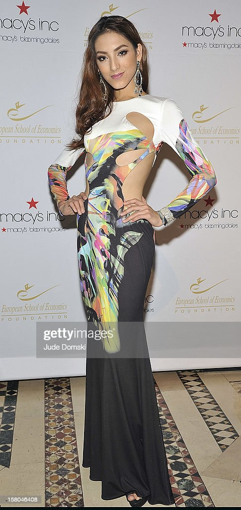 Reyila, former Miss Universe China contestant, attends the 2012 European School Of Economics Foundation Vision And Reality Awards at Cipriani 42nd Street on December 5, 2012 in New York City.