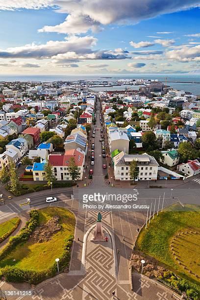 Reykjavik as seen from Hallgrimskirkja tower