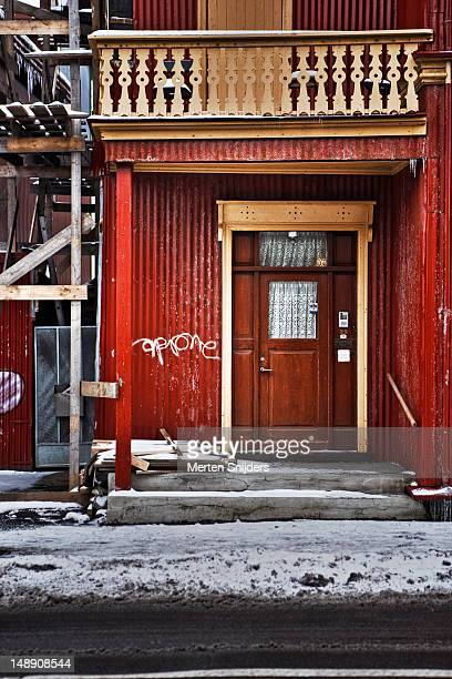reykjavik building and doorway. - merten snijders stock pictures, royalty-free photos & images