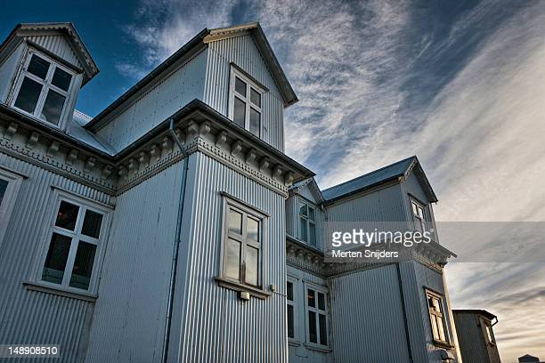 reykjavik building. - merten snijders stock pictures, royalty-free photos & images