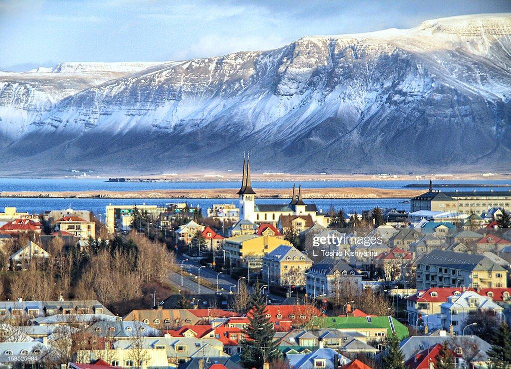 Reykjavik cityscape in Iceland : Stock-Foto
