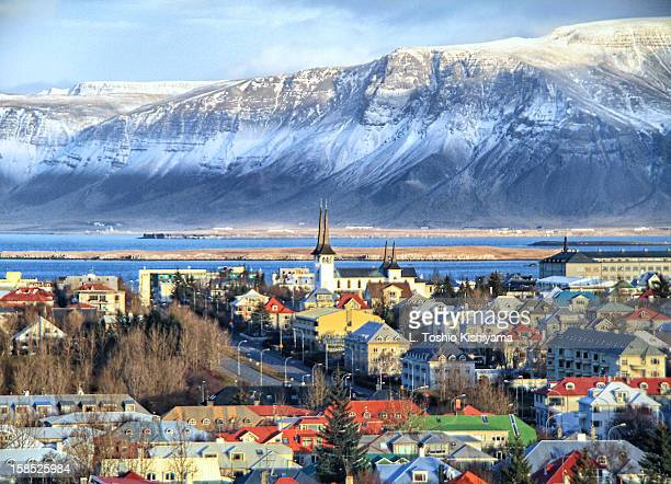 reykjavik cityscape in iceland - iceland stock pictures, royalty-free photos & images