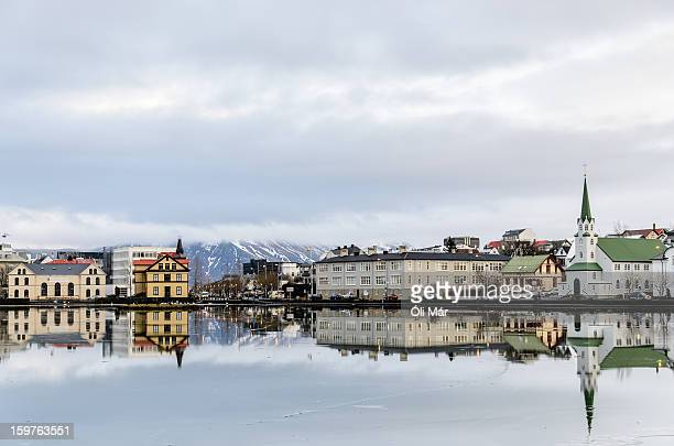 reykjavik downtown - reykjavik stock pictures, royalty-free photos & images