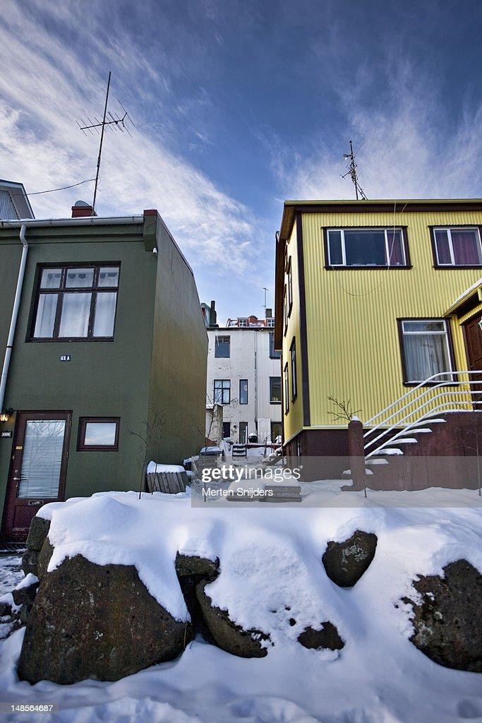 Reykjavik houses. : Stockfoto