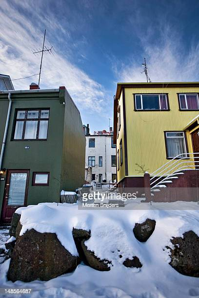 reykjavik houses. - merten snijders stock pictures, royalty-free photos & images