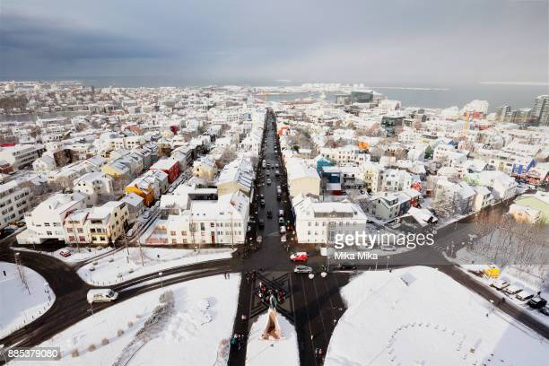 reykjavik in winter - islândia - fotografias e filmes do acervo