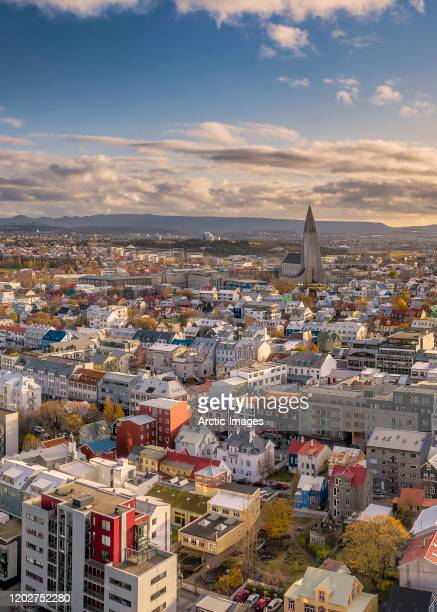 reykjavik skyline, iceland - reykjavik stock pictures, royalty-free photos & images