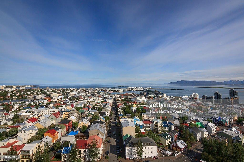 Reykjavik view with blue sky : Stock Photo