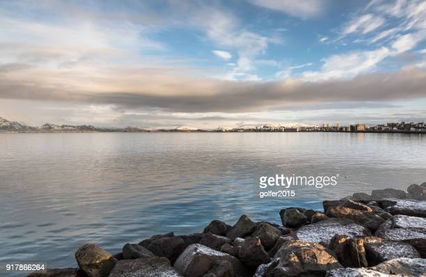 reykjavik waterfront - boulder county stock pictures, royalty-free photos & images