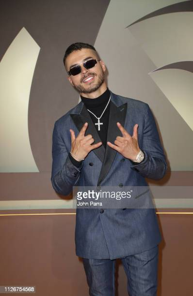 Reykon arrives at Univision's 31st Edition Of Premio Lo Nuestro A La Musica Latina Pink Carpet at American Airlines Arena on February 21 2019 in...