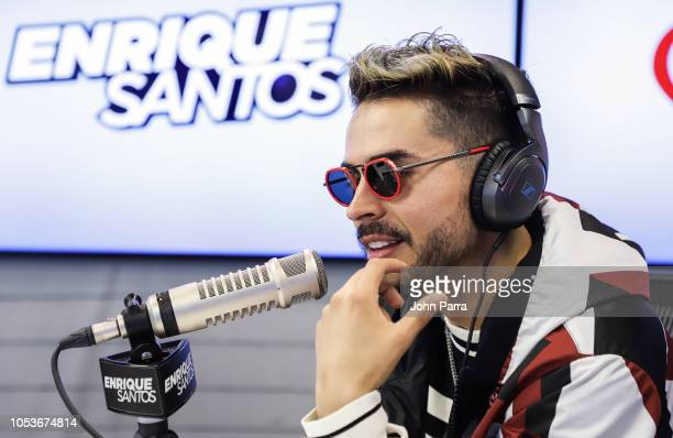 Reykon is seen at The Enrique Santos Show At I Heart Latino Studios at I Heart Latino Studios on October 25 2018 in Miramar Florida