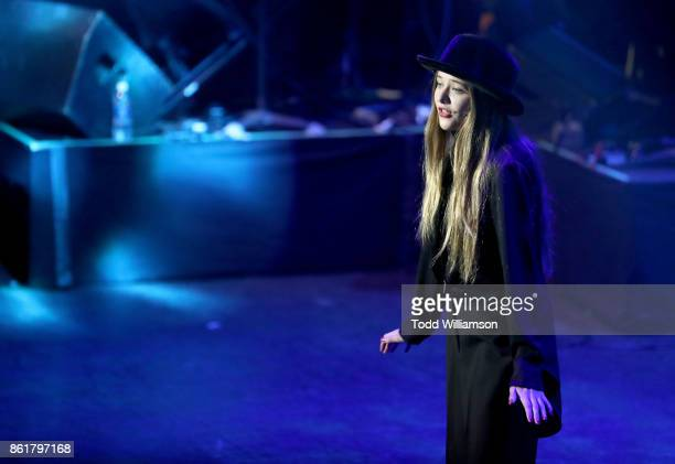 Reylynn Caster performs onstage at National Breast Cancer Coalition Fund's 17th Annual Les Girls Cabaret at Avalon Hollywood on October 15 2017 in...