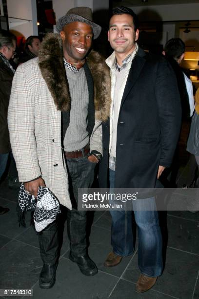 Reynaldo Davis Carter and Louis Sarmiento attend 8th Annual BoCONCEPT/KOLDESIGN Holiday Party at Bo Concept Madison Ave on December 14th 2010 in New...